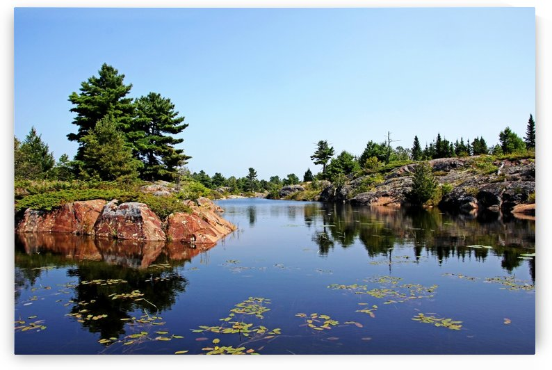 Between Islands French River Delta by Deb Oppermann