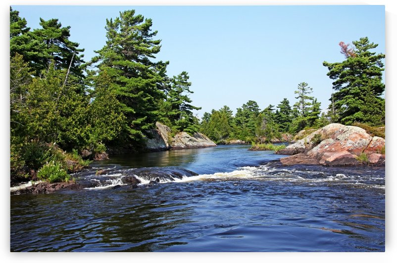 Lovers Rapids Lower French River by Deb Oppermann