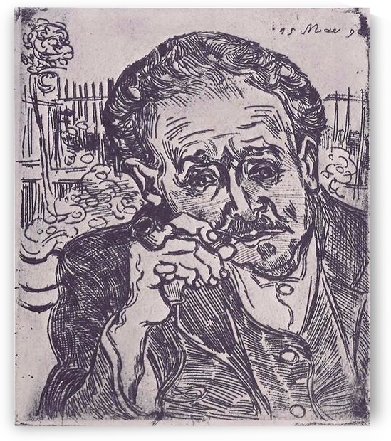 Man with pipe (Portrait of Dr. Gachet) by Van Gogh by Van Gogh