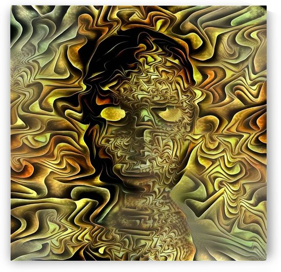 Mystic Golden Mask by Bruce Rolff