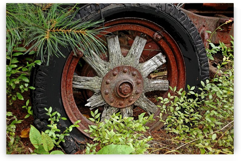 Vintage Wood Spoke Wheel by Deb Oppermann