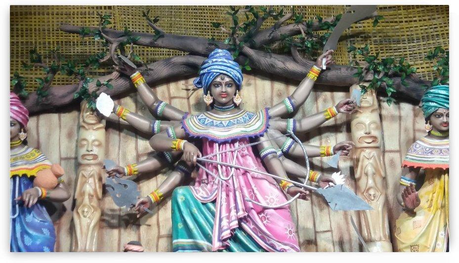 Statue of goddess durga by Nilu Mishra