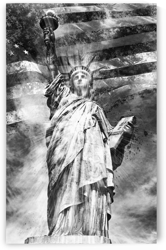 Monochrome Art STATUE OF LIBERTY by Melanie Viola