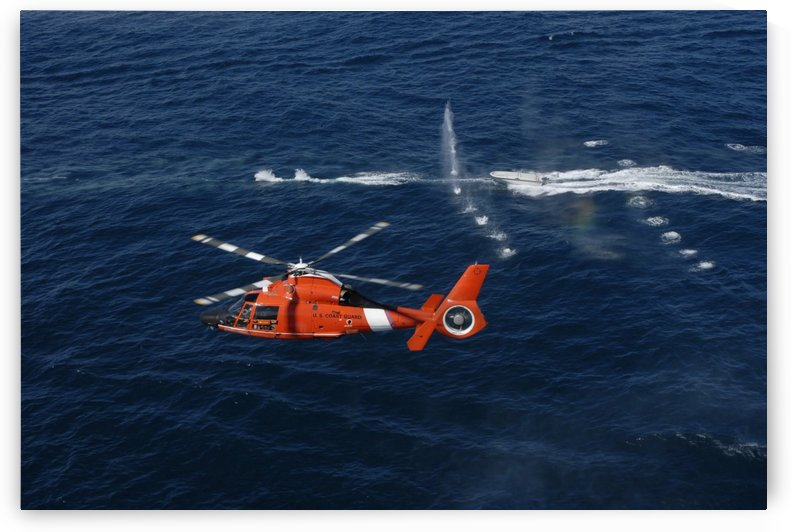 A helicopter crew trains off the coast of Jacksonville Florida. by StocktrekImages