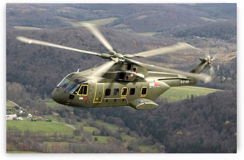 The next generation Presidential helicopter the US-101 medium lift helicopter. by StocktrekImages