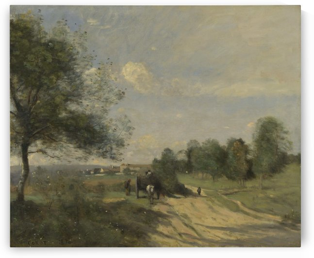 The Wagon by Jean-Baptiste-Camille Corot