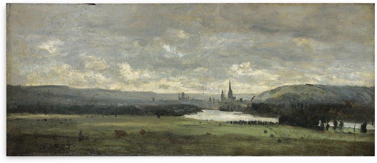 The Seine near Rouen by Jean-Baptiste-Camille Corot