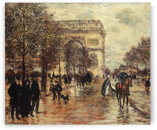 Les Champs-Elysees by Jean-Francois Raffaelli