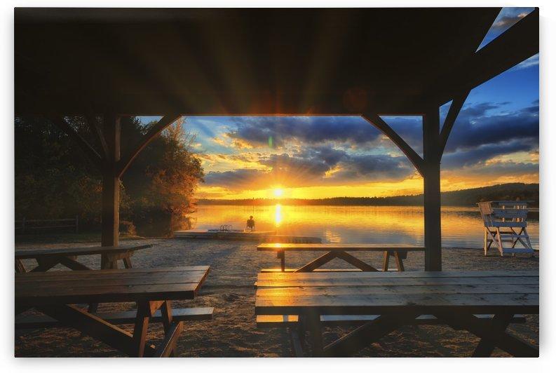 Sunset on Autumn Lake by Ben Tolosa