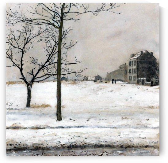 Montmartre under Snow by Jean-Francois Raffaelli