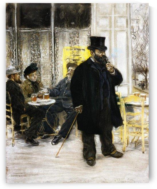 Three Railway Men by Jean-Francois Raffaelli