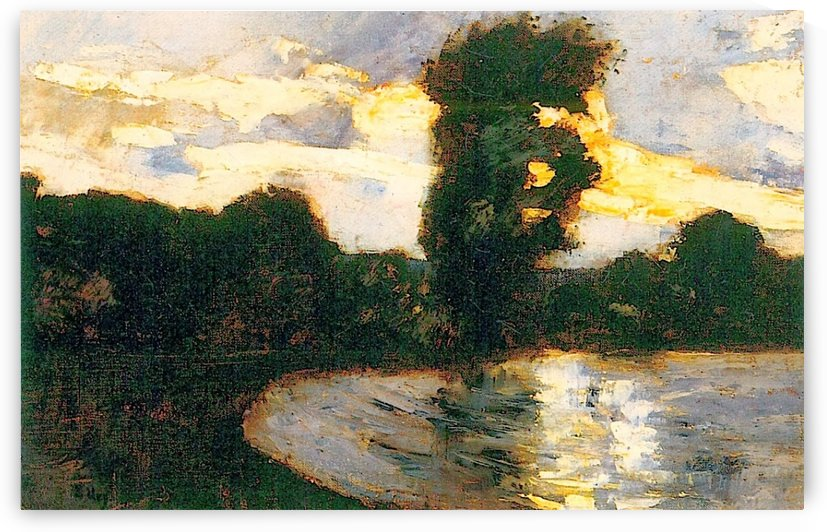 On a Canal by Lesser Ury