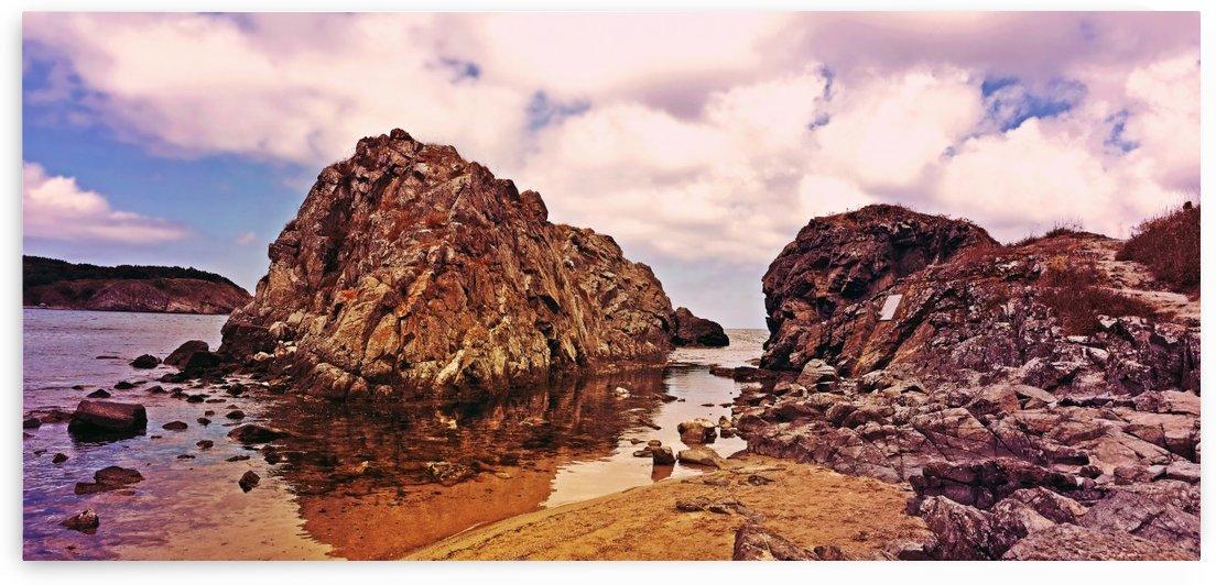 Beauty Sea View with Rocks by Kikkia Jackson