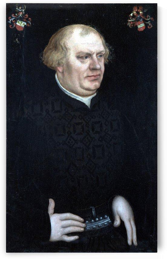 Portrait of a Man, probably Johann Feige by Lucas Cranach the Elder