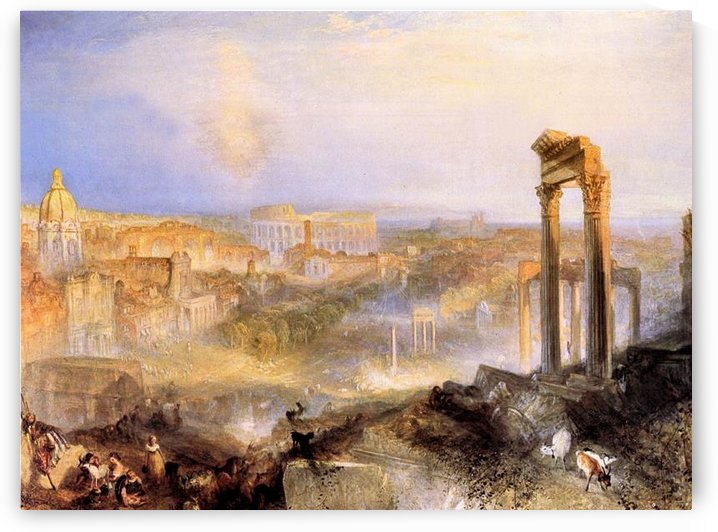 Modern Rome, Camp Vaccino  by Joseph Mallord Turner by Joseph Mallord Turner