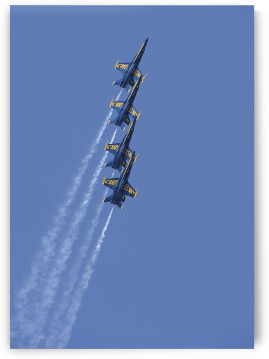 U.S. Navy flight demonstration squadron the Blue Angels. by StocktrekImages