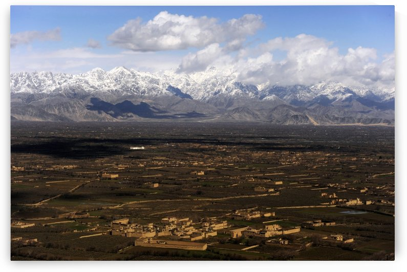 An aerial view over Afghanistan from a UH-60 Blackhawk helicopter. by StocktrekImages
