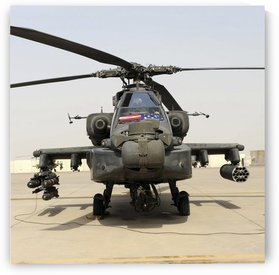 Front view of an AH-64D Apache Longbow. by StocktrekImages