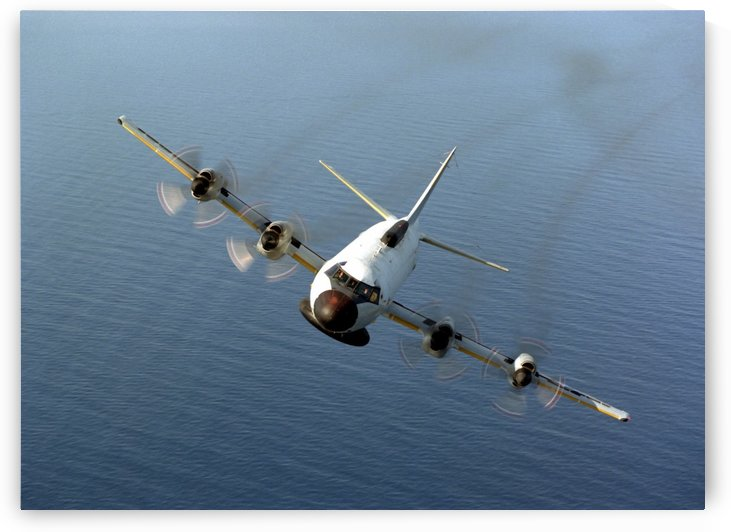 Front view of an EP-3E Orion aircraft. by StocktrekImages