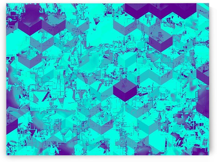 geometric square pattern abstract in blue by TimmyLA