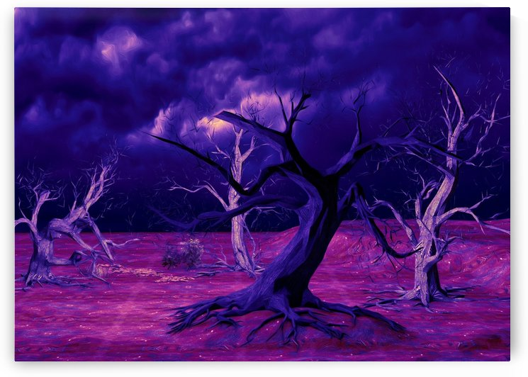 PURPLE FOREST by ART AND INSPIRATION