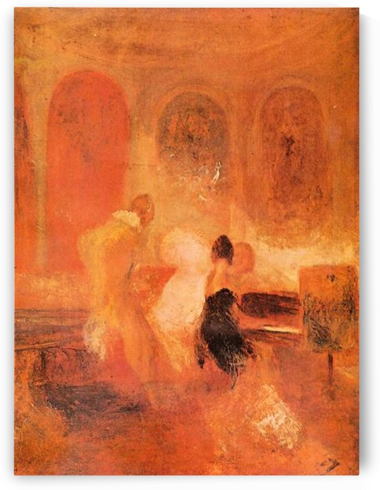 Music at Cowes Castle by Joseph Mallord Turner by Joseph Mallord Turner