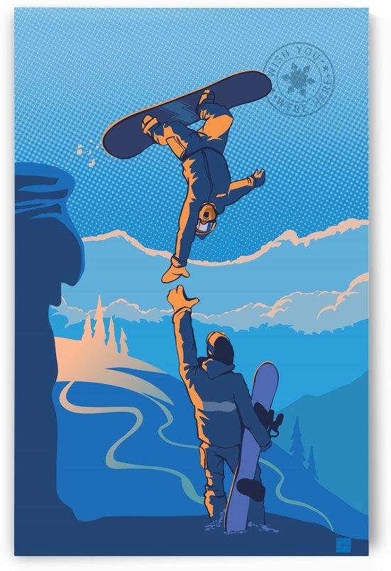 snowboard highfive by Sassan Filsoof