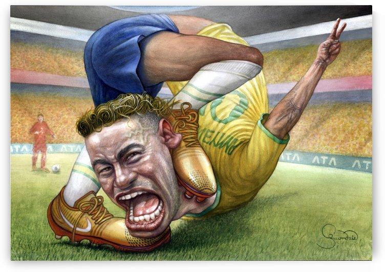 Neymar by Krzysztof Grzondziel by Krzysztof Grzondziel