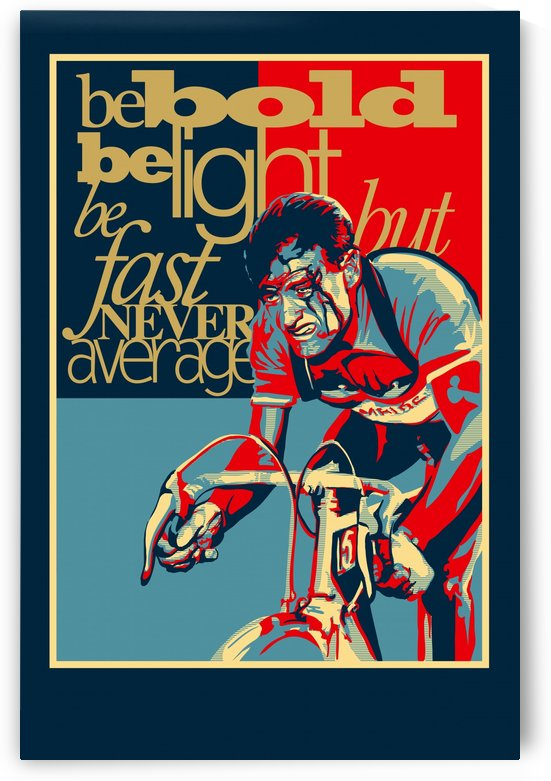 Hard as Nails Vintage Cycling Poster  by Sassan Filsoof