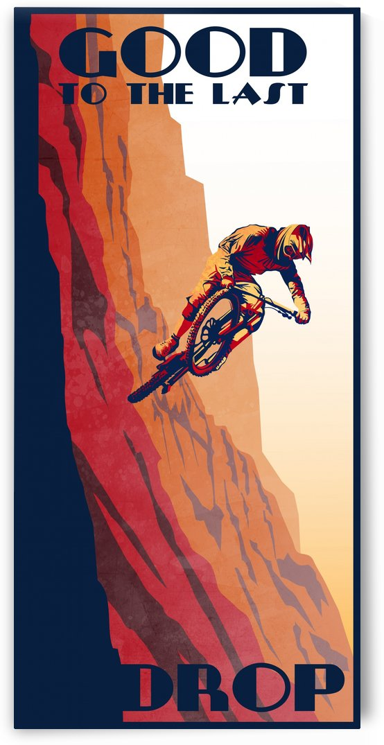 Lat Drop Mountain Biking Poster by Sassan Filsoof