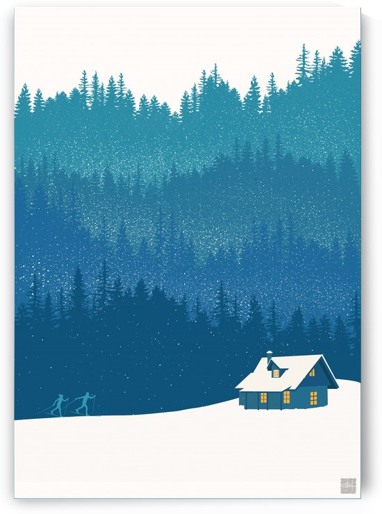 Scenic Ski and Forest Cabin  by Sassan Filsoof