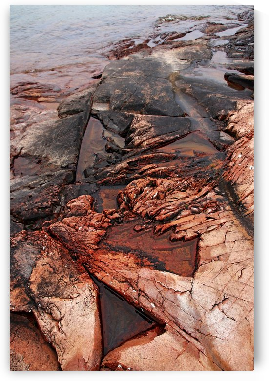 Collins Inlet Rocky Shore by Deb Oppermann