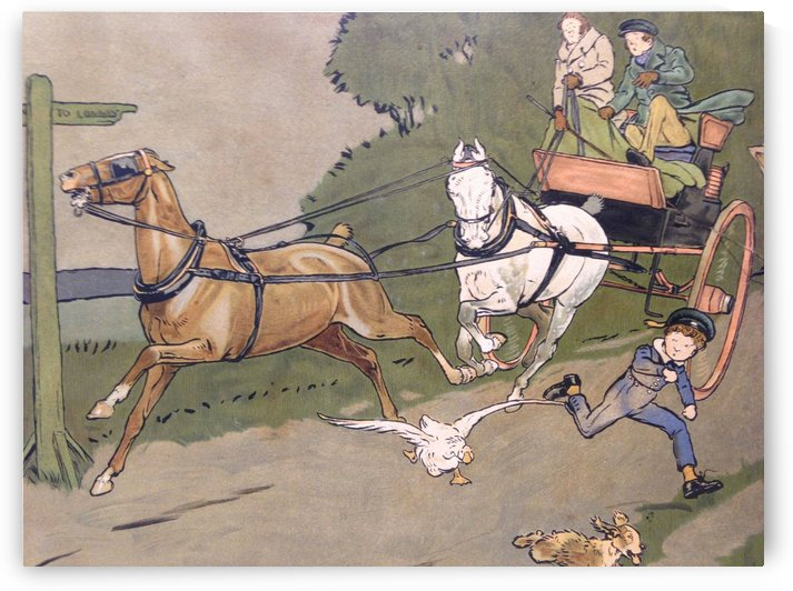 Trouble Ahead by Cecil Aldin