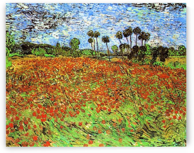 Poppy Fields by Van Gogh by Van Gogh