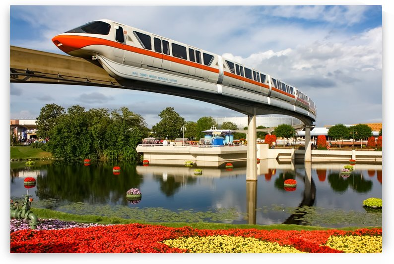 EPCOT Monorail by Justin Pistone