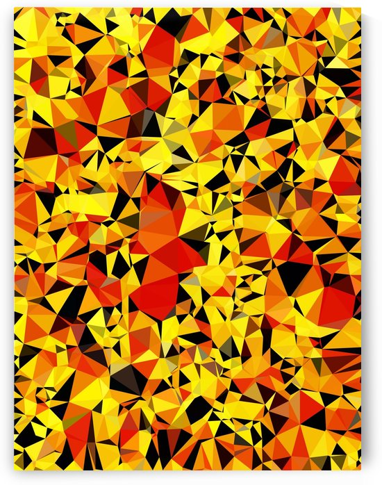 geometric triangle pattern abstract in orange yellow red by TimmyLA