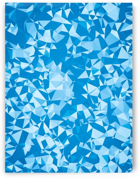 geometric triangle pattern abstract in blue by TimmyLA