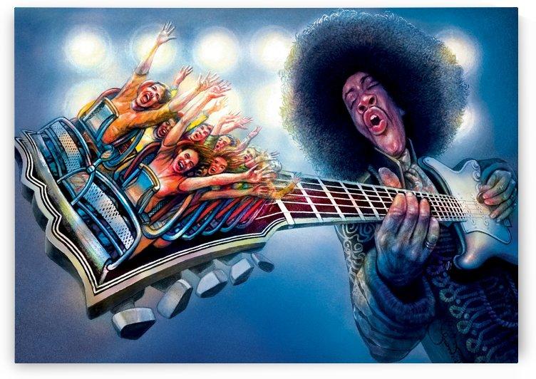 Jimi Hendrix by Krzysztof Grzondziel by Krzysztof Grzondziel