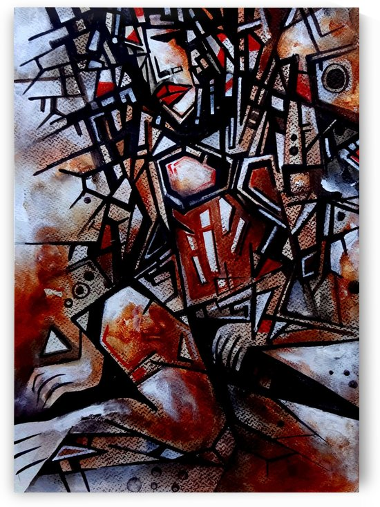 The Model   - Cubism by Sumit Datta
