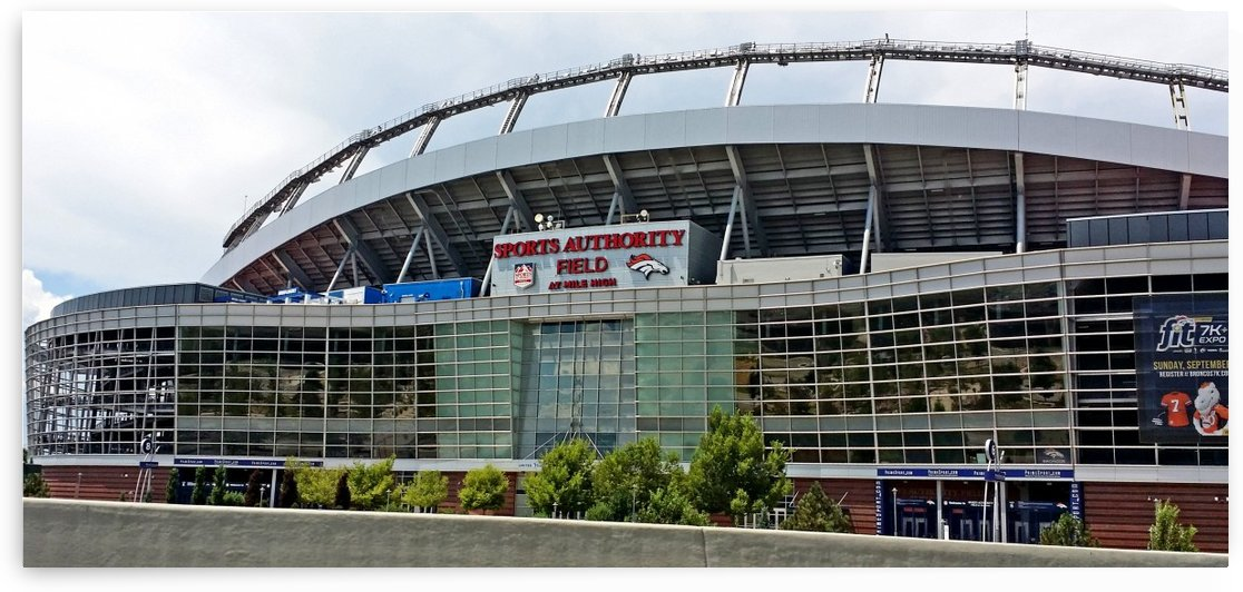 Denver Bronco Stadium by Deb Colombo