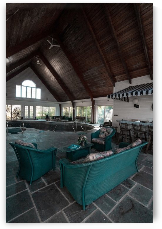 Abandoned Mansion Indoor Pool by Steve Ronin