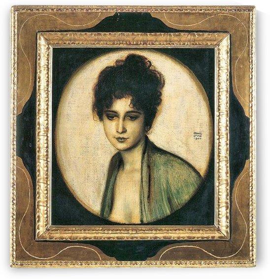 Portrait of Mrs. Feez by Franz von Stuck by Franz von Stuck