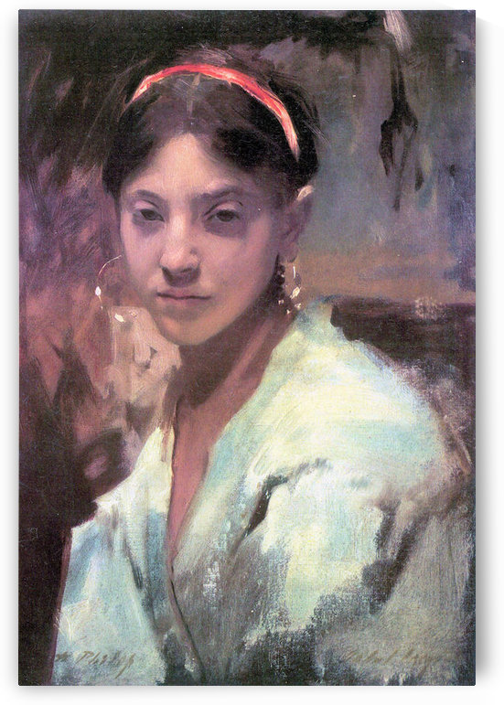 Head of a Capri Girl by John Singer Sargent by John Singer Sargent