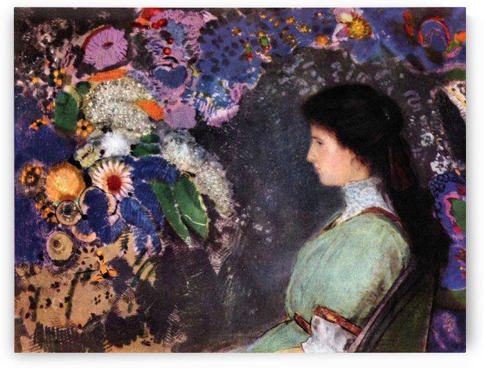 Portrait of Violet Heyman by Odilon Redon by Odilon Redon