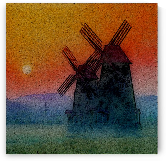 SUNDOWN ON WINDMILLS by Canny Mitts