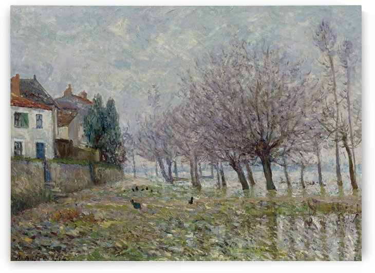 After the Flood, Haute-Indre, the Lower Loire by Maxime Maufra