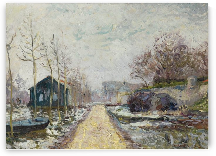 The Flood in Winter, Basse-Goulaine (Lower Reaches of Loire, near... by Maxime Maufra