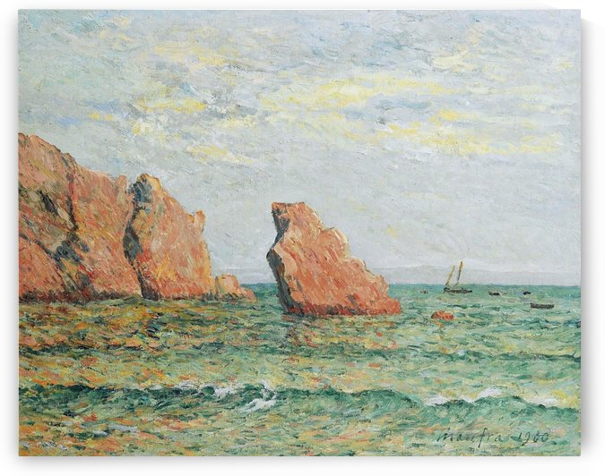 Lonely Rock at Morgat by Maxime Maufra