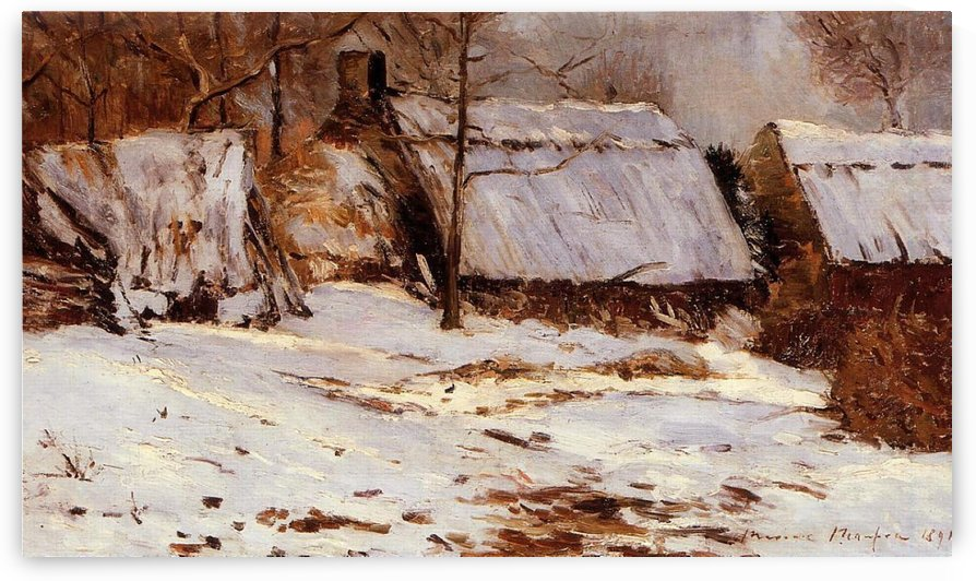Cabins under the Snow by Maxime Maufra