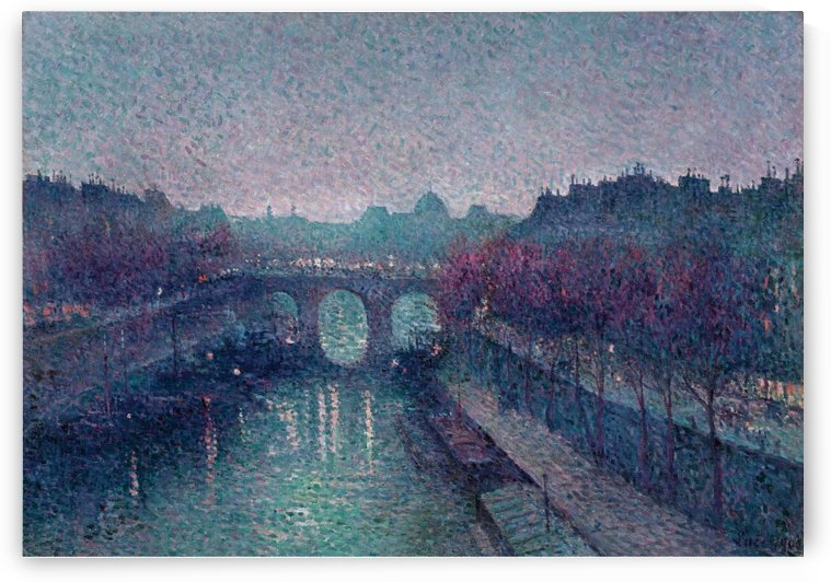 The Pont Neuf, the Seine, Small Arm by Maximilien Luce